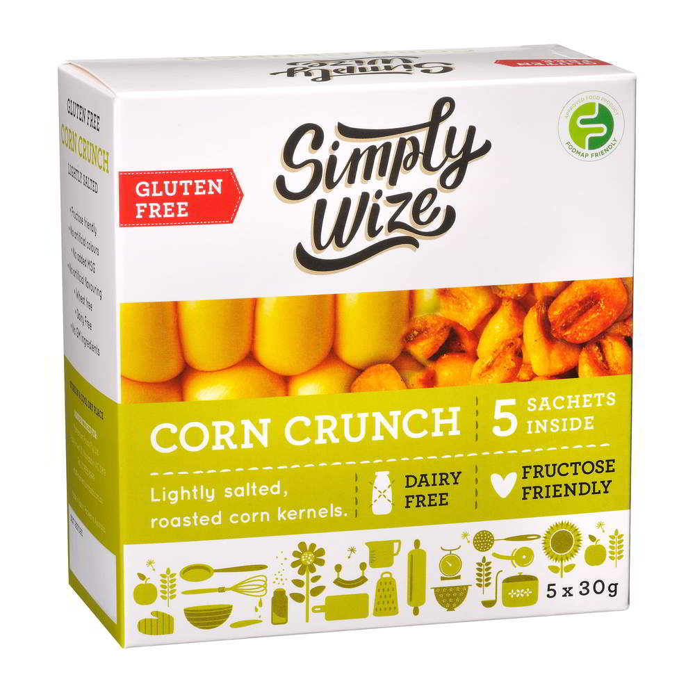 Low FODMAP corn crunch on Oh My Guts