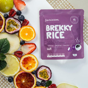 Forbidden Brekky Rice Black Rice & Coconut Organic Instant Rice Pudding 125g