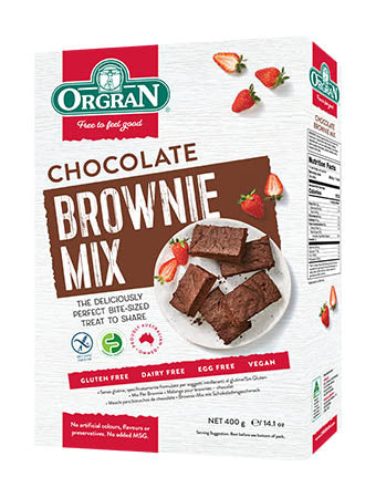 Low FODMAP chocolate brownie mix on Oh My Guts