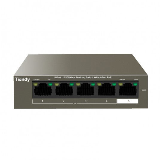 TCFS104E - Tiandy 4-Port POE Switch