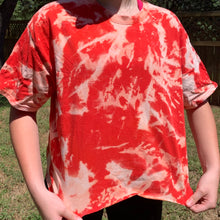 Load image into Gallery viewer, Red bleached tee