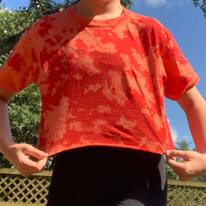 Red bleached tee