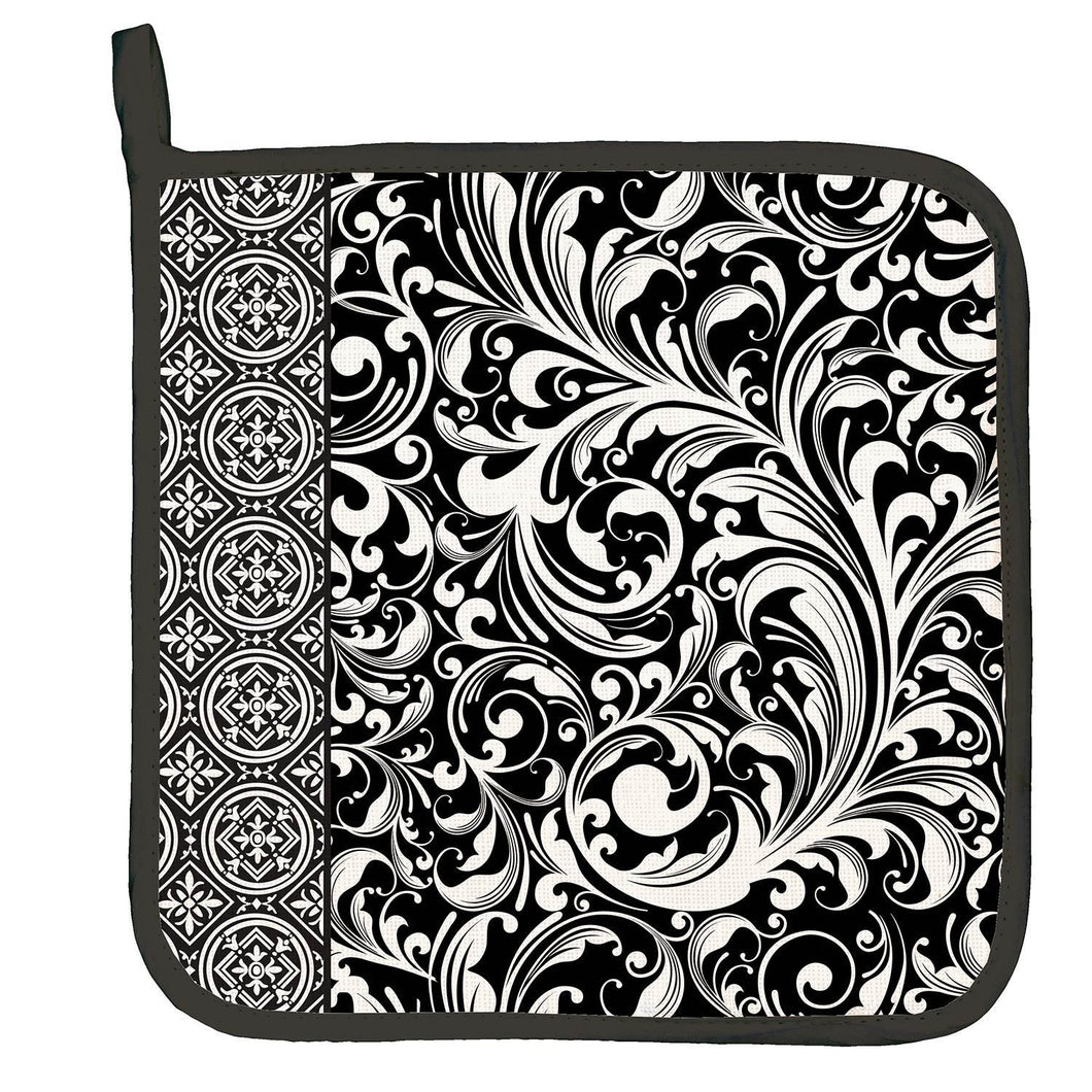 Michel Design Works Black Florentine Potholder