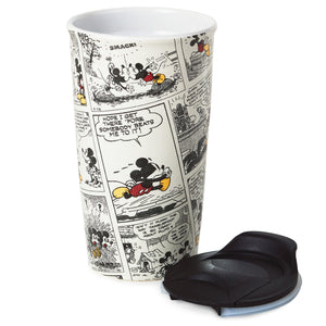 Hallmark Disney Mickey Mouse Comic Strip Travel Mug, 10oz.