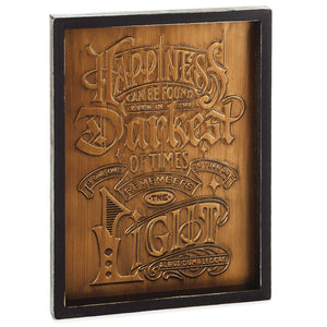Hallmark Harry Potter™ Happiness Can Be Found Framed Quote Sign, 9x12