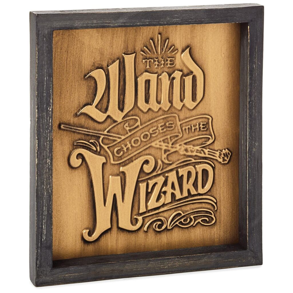 Hallmark Harry Potter™ Wand Chooses the Wizard Quote Sign, 8x9