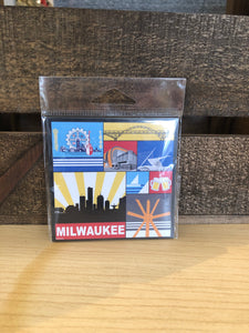 Milwaukee Grid Design Magnet