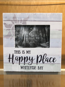 This is My Happy Place Whitefish Bay Frame