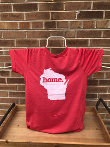 Home State Apparel Wisconsin Unisex T-Shirt - Red