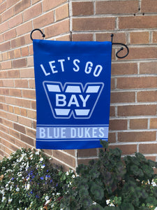 "Whitefish Bay ""Let's Go Blue Dukes"" Garden Flag"