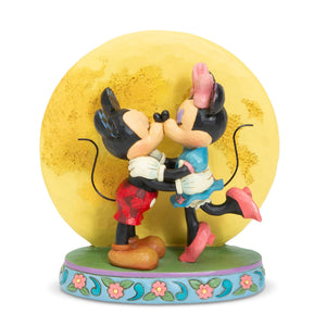 Hallmark Disney Jim Shore Mickey and Minnie Magic and Moonlight Figurine, 6""