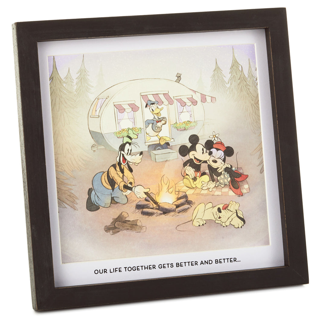 Hallmark Disney Mickey Mouse and Friends Better Together Framed Print, 8.5x8.5