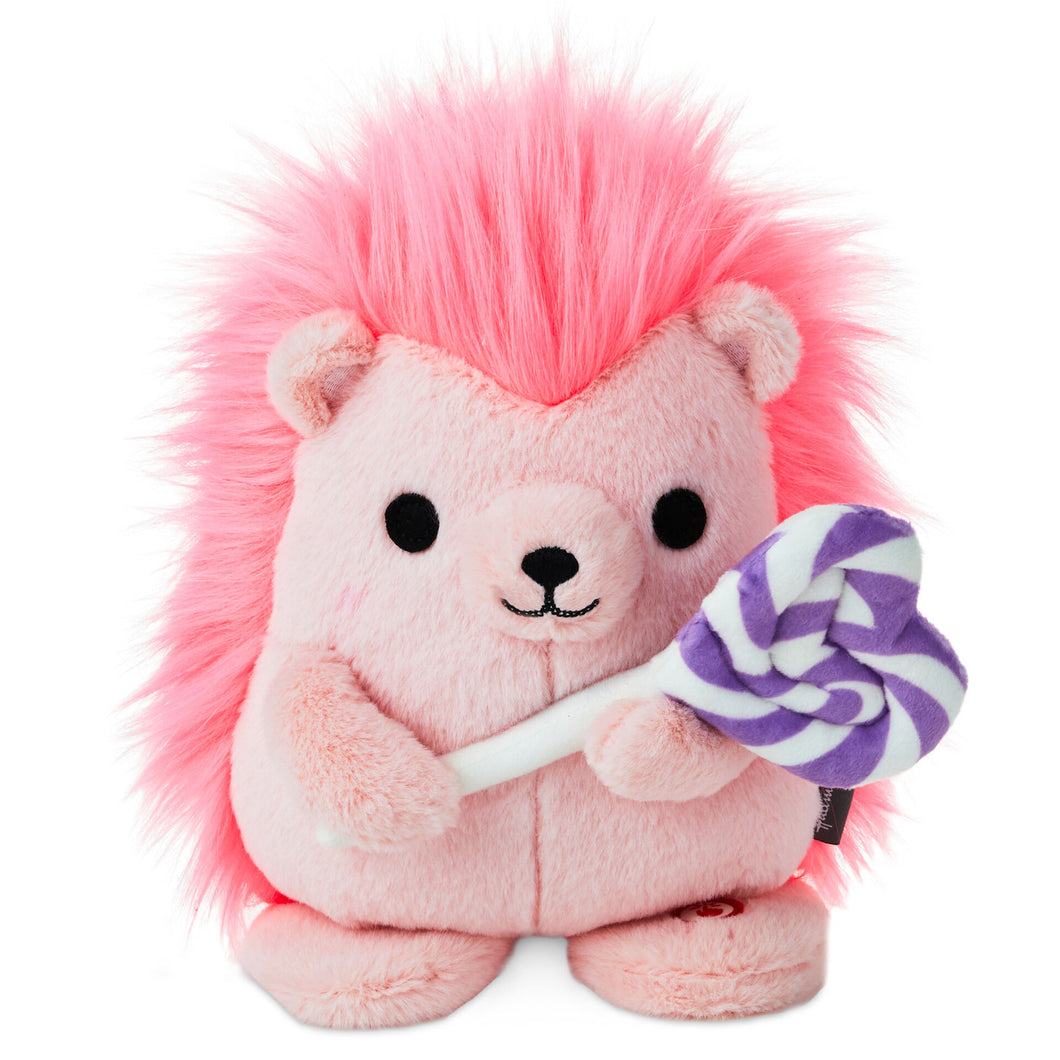 Hallmark Sweet Treat Hedgehog Singing Stuffed Animal with Motion, 8