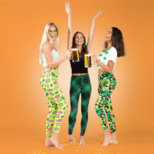 Load image into Gallery viewer, Two Left Feet Get Lucky Women's St. Patrick's Day Leggings