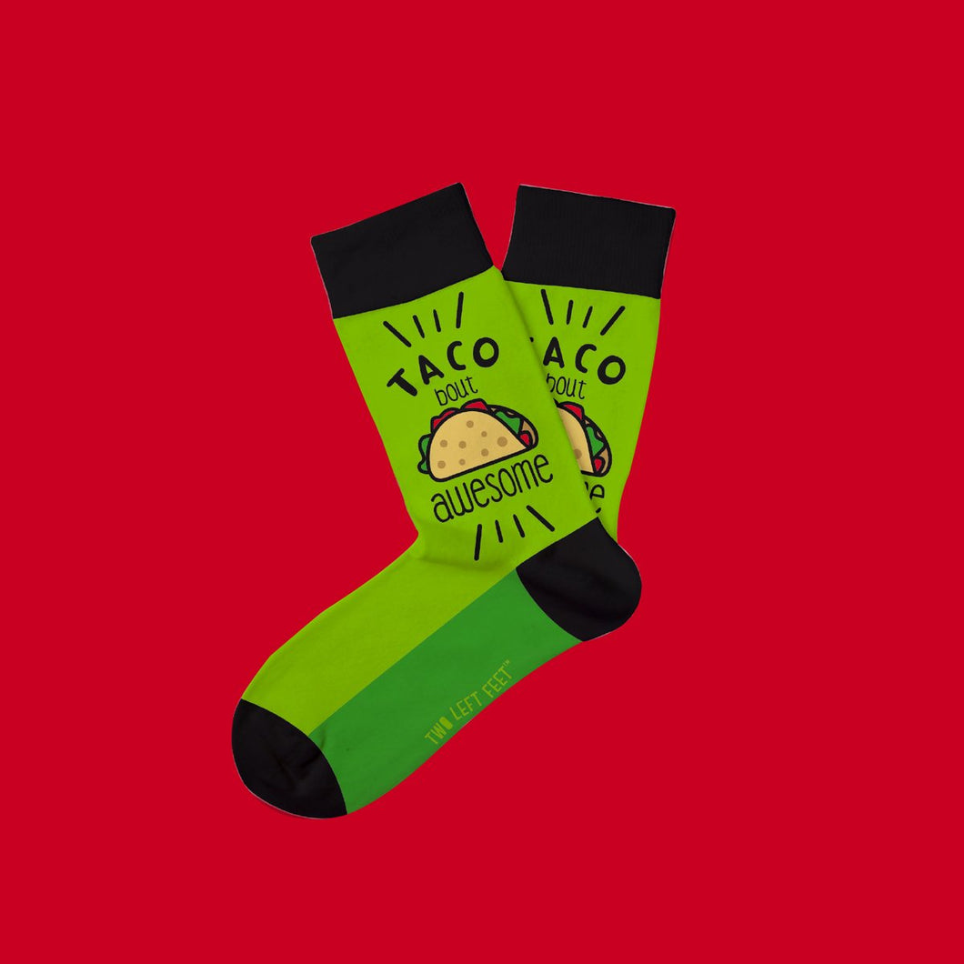 Two Left Feet Tacobout Awesome Kids Everyday Socks