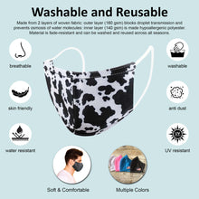 Load image into Gallery viewer, KIDS Reusable Two-Layer Face Mask - Cow