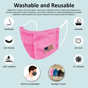 Reusable Two-Layer Face Mask - Pink
