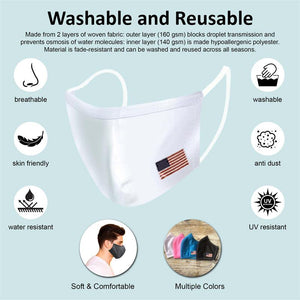 Reusable Two-Layer Face Mask - Snowflake