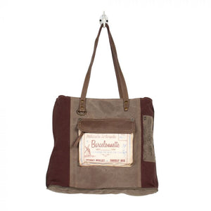 Myra Bag Subtle Canvas Tote Bag