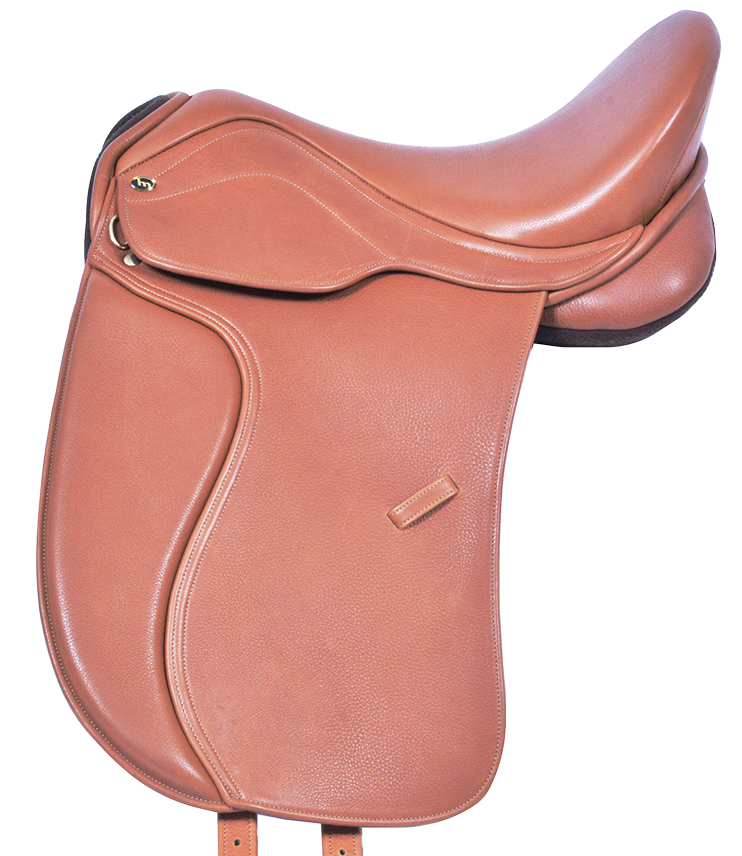 HM FlexEE Finale dressage saddle in London tan