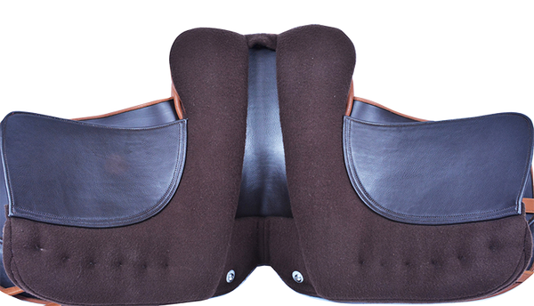 HM FlexEE Finale dressage saddle underside (London tan)