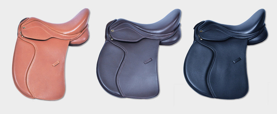 HM FlexEE saddles, flexible leather-treed with the look of a conventional saddle