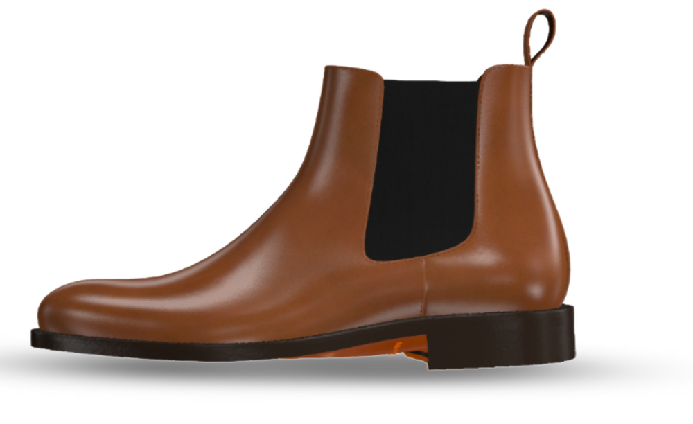 Leather Chelsea Men's Dress Boots
