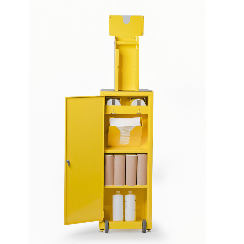Lockable Storage in Rear of Disinfecting Cart
