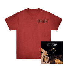 Load image into Gallery viewer, Us + Them + Red Dye Tee