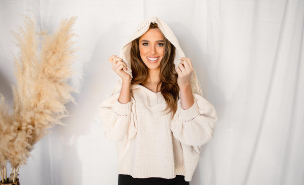 HIGH HOPES HOODED SWEATER |  CREAM