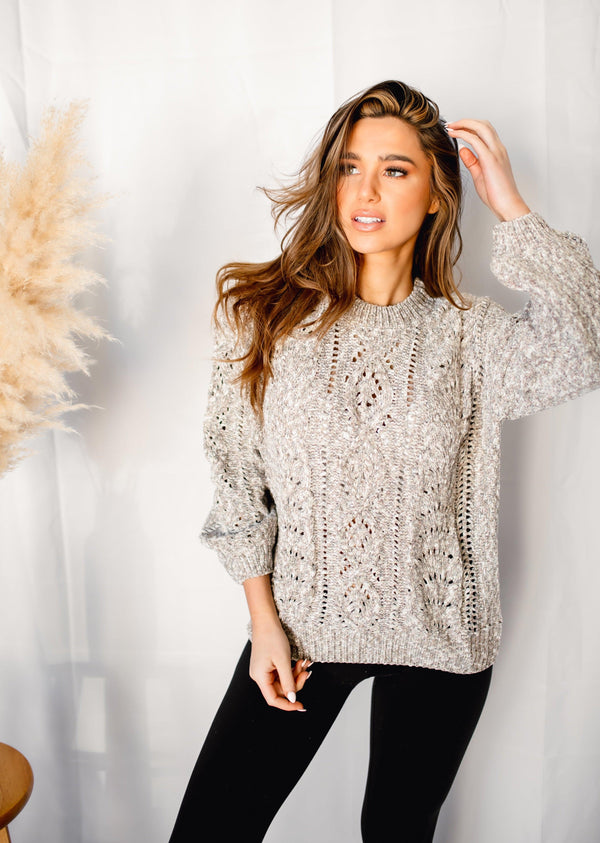 TOASTED TREATS CABLE KNIT SWEATER