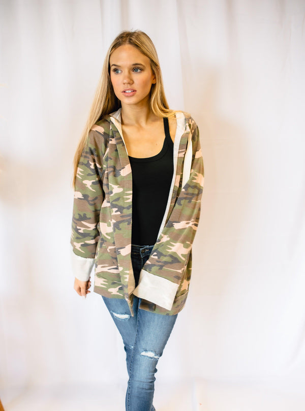 MY TRUE LOVE CAMO CARDIGAN