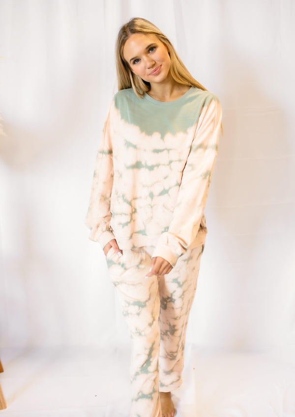 MIXED FEELINGS TIE DYE PULLOVER