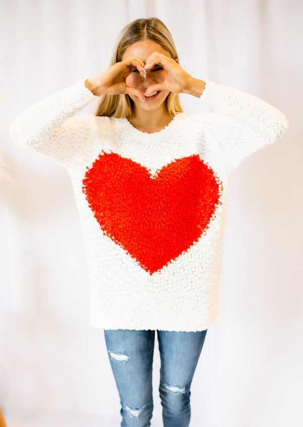 BE MINE POPCORN HEART LONG SLEEVE