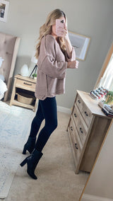 MAKE A TOAST KNIT SWEATER | MAUVE