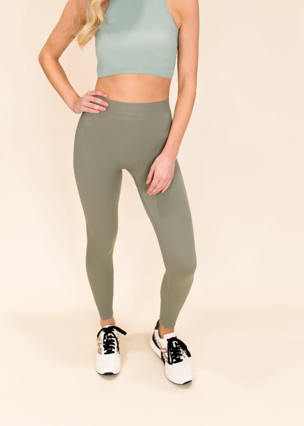 MOVE YOUR BODY SEAMLESS LEGGINGS | OLIVE