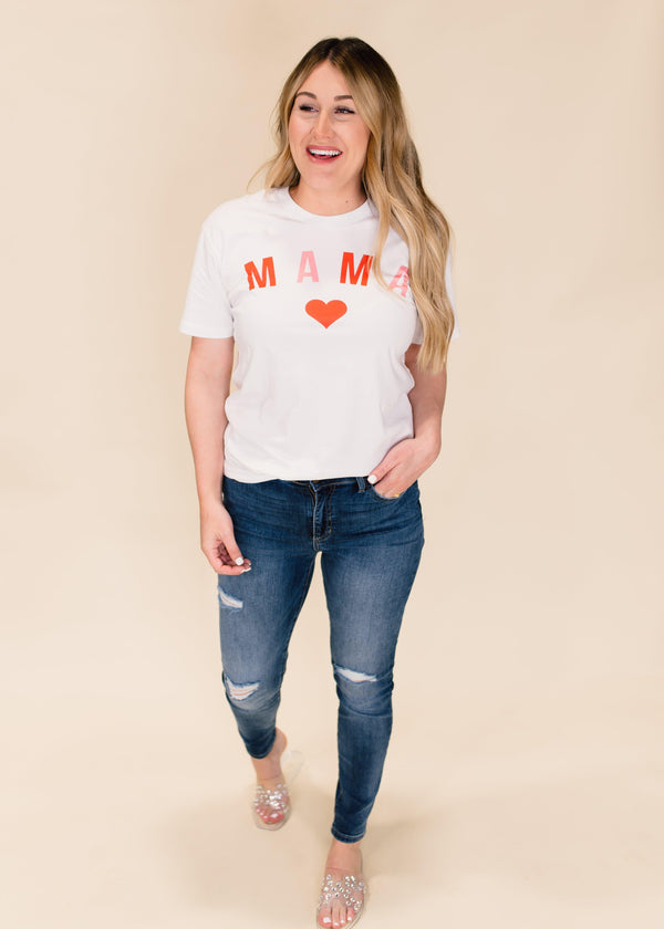 MAMA HEART GRAPHIC TEE