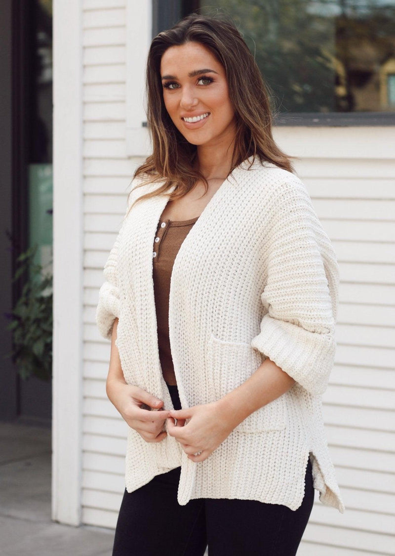 FIRESIDE SLOUCH CARDIGAN | CREAM
