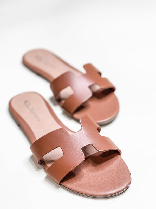 BLAKE LEATHER SANDAL | COGNAC