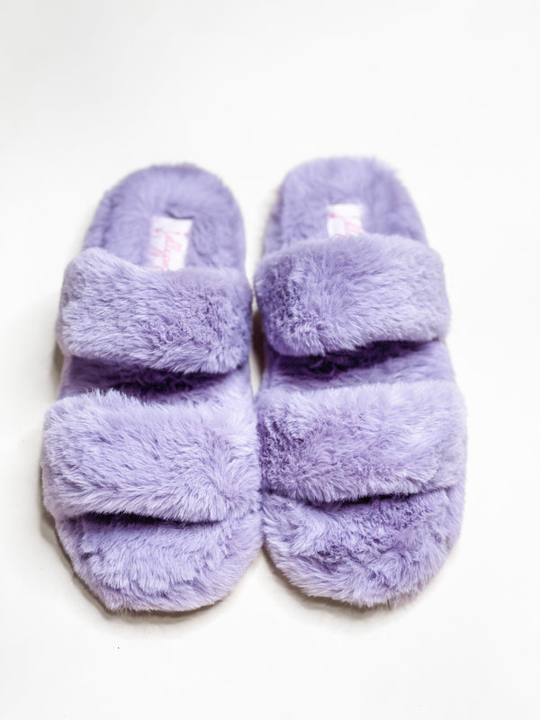 DELIGHTFULLY YOURS FUZZY SLIPPERS | LILAC