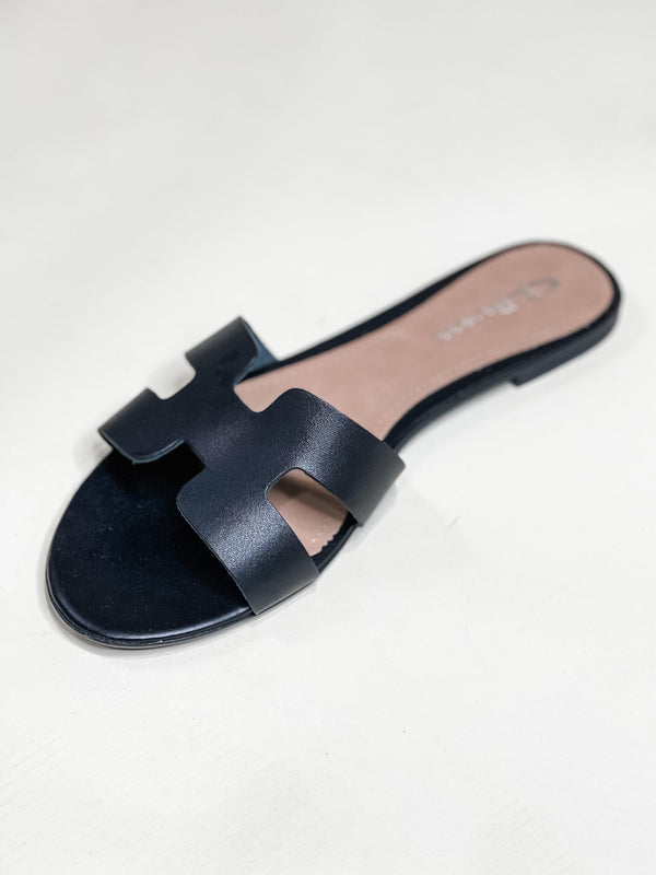 BLAKE LEATHER SANDAL | BLACK