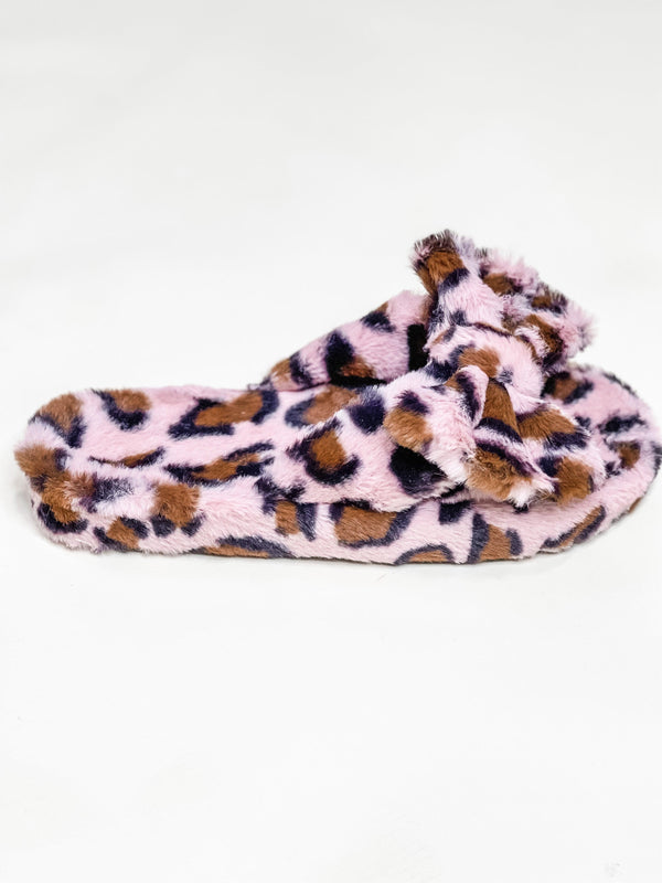 ONE WILD NIGHT LEOPARD SLIPPERS