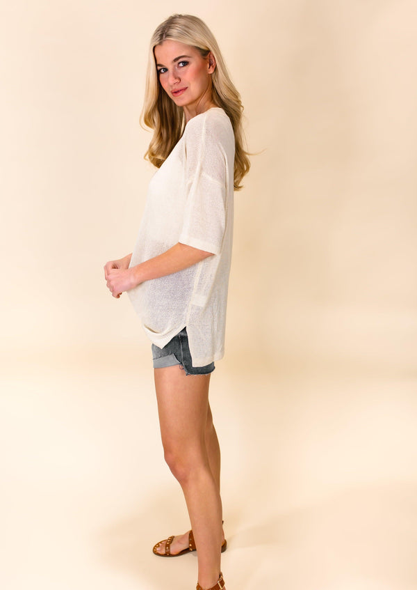 READY TO ROLL HALF BUTTON TOP | CREAM