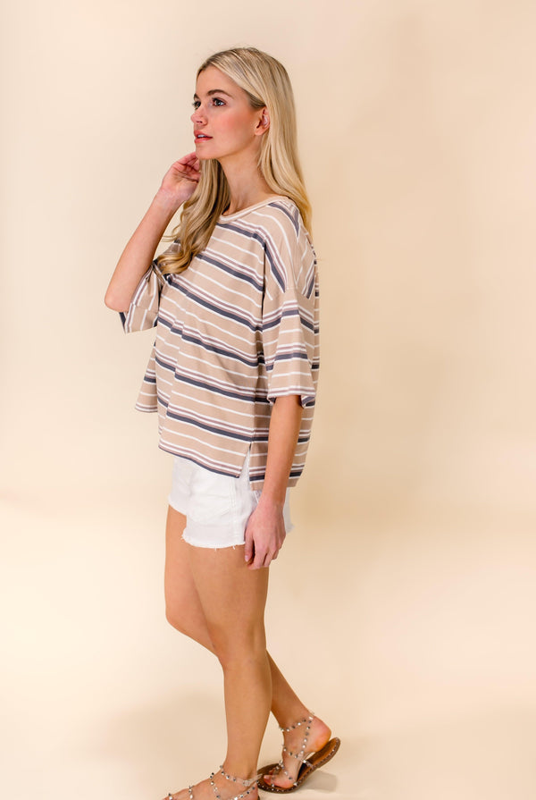 JUST RELAX STRIPED TOP