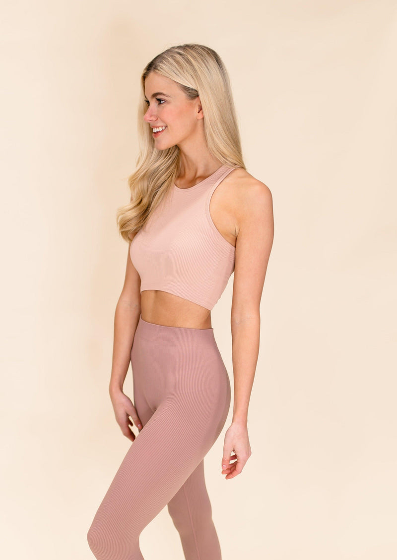 MOVE YOUR BODY CROP TOP | MAUVE