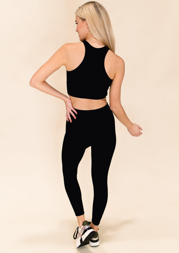 MOVE YOUR BODY SEAMLESS LEGGINGS | BLACK