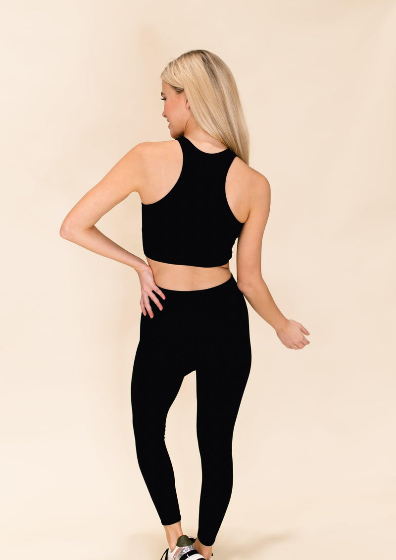 MOVE YOUR BODY CROP TOP | BLACK