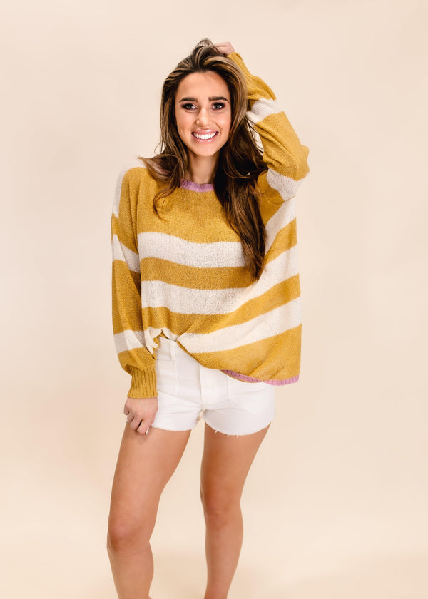 SUNNY DAYS STRIPED LONG SLEEVE TOP