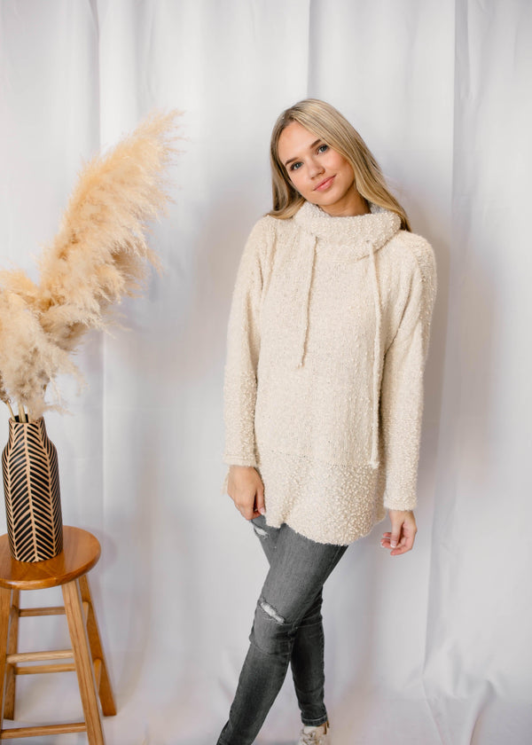 """HAY THERE FALL"" COWL NECK TUNIC"