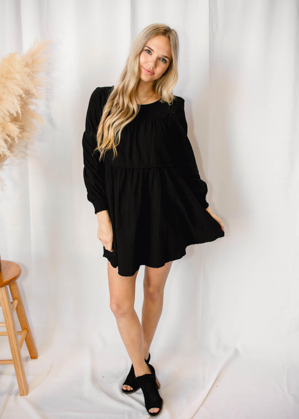 SO OBSESSED DRESS | BLACK